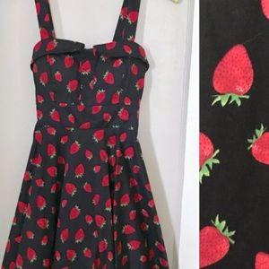 Modcloth Ixia Strawberry Rockabilly Dress